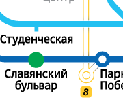 Славянский бульвар 2-ком 36.000