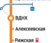 (ВДНХ) от метро 5 минут 3 сааты 500